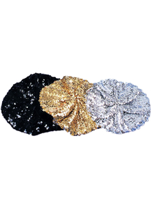 Beret Sequin Black For All
