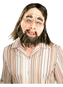Caveman Latex Mask For Adults