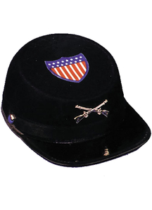 Civil War Cap Econo Blu Lrg For All
