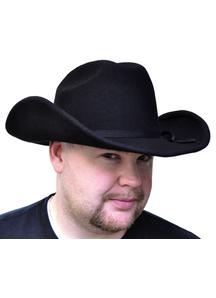 Cowboy Hat Black Felt Sml For Adults