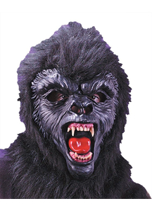 Gorilla Dlx Mask With Teeth For Adults