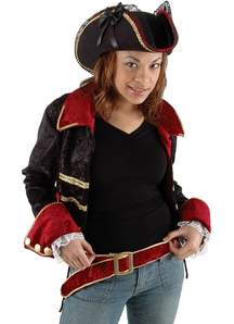 Hat Lady Buccaneer Black For Adults