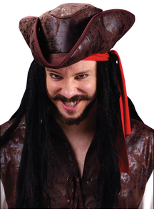 Hat Pirate Tricorn Deluxe For Adults