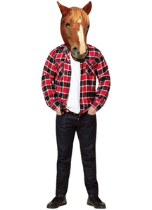 Horse Head Photo Real Mask For Adults