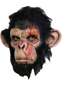 Infected Chimp Latex Mask For Adults