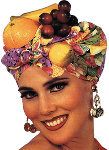 Latin Lady Fruit Headpiece For Adults
