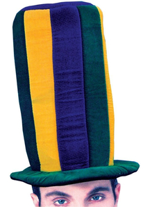 Mardi Gras Tall Hat For Adults