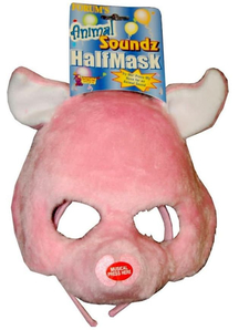 Pig Half Mask With Fun Sound For Adults