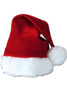 Santa Hat Velvet Plush Trim For All
