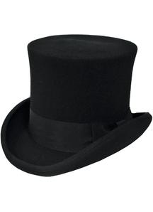 Tall Hat Black Large For Men