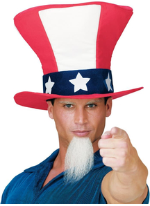 Uncle Sam Hat W Beard For Adults