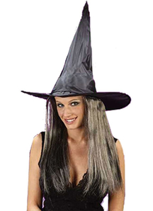 Witch Hat W Hair Taffeta For All
