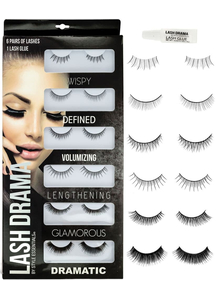 6 Pair Eye Lashes Set