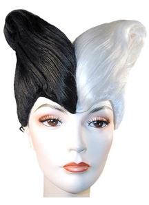Black/White Combo Wig