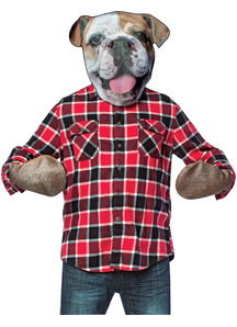 Bull Dog Head With Paws