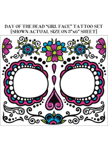 Day Of The Dead. Face Tattoo