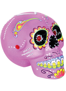 Day Of The Dead Skull Pink