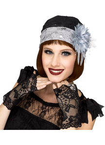 Flapper Cloche And Mitts For Adults