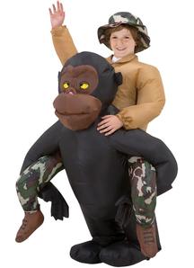 Gorilla Rider Inflatable Costume