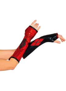 Harley Quinn Gauntlets For Adults