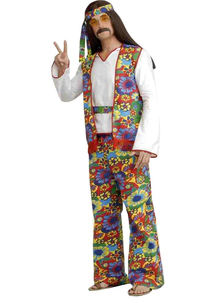Hippie Man Plus Adult Costume