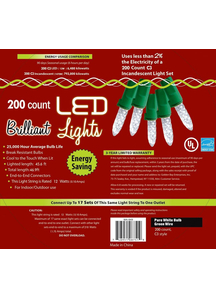Holiday Lights 200 L C 3 Pure White