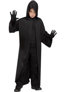 Hooded Robe Black Child