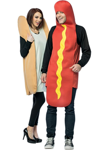 Hot Dog And Bun Couple Costumes