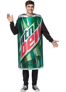 Mtn Dew Can Adult Costume