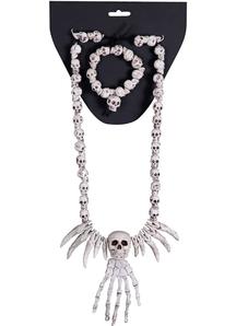 Skull Set Necklace Bracelet
