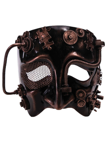 Steampunk Bronze Mask For Adults