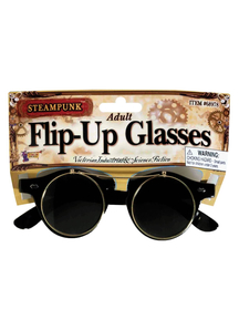 Steampunk Flip-Up Glasses For Adults