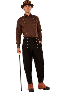 Steampunk Style Brown Shirt