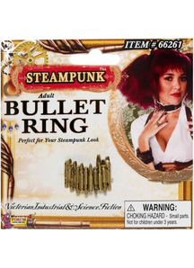 Steampunk Style Bullet Ring