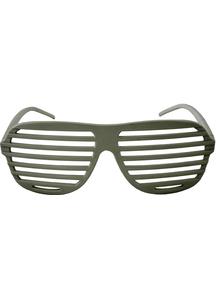 White Louvre Glasses