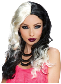 Wicked Witch Wig White Black