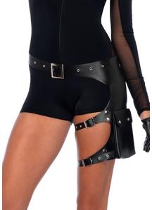 Belt With Garter Pocket