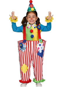Crazy Clown Child Costume