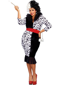 Dalmation Queen Adult Plus Costume