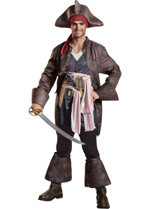 Deluxe Pirates of The Caribbean Captain Jack Adult Costume