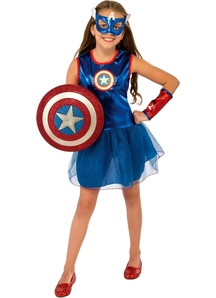 Girl Captain America Toddler Costume