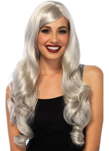 Grey Wavy Long Wig