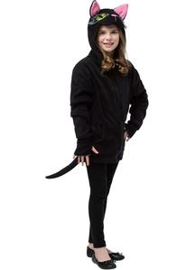 Hoodie Black Cat Teen