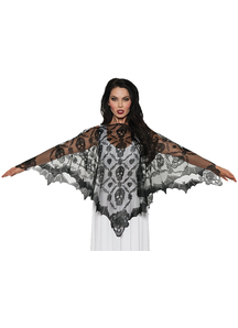 Lace Poncho Vampire