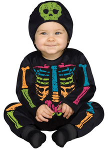Little Bright Skeleton Toddler Costume