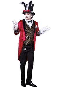 Mens White Rabbit Costume Alice in Wonderland