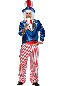 Patriotic Uncle Sam Adult Costume - 21482