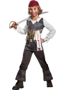 Pirates of The Caribbean Captain 5 Captain Jack Sparrow Child Costume