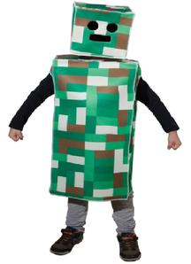 Pixel Monster Costume For Children