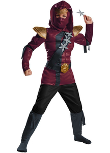 Red Fire Ninja Child Costume